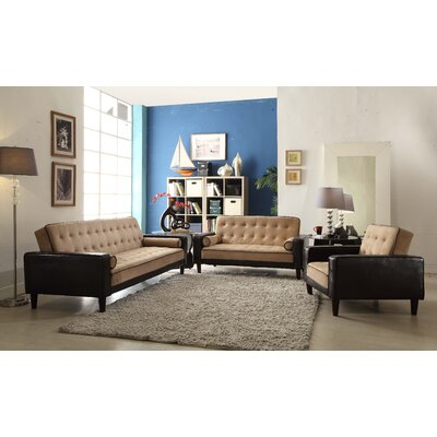 Navi Twill Sleeper Sofa Upholstery: Mocha Suede/Dark Brown Faux Leather