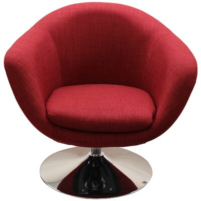 Worsley Barrel Chair Upholstery: Cherry