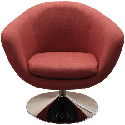 Worsley Barrel Chair Color: Spice
