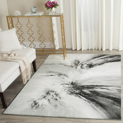 Ashleigh Gray Area Rug Rug Size: Rectangle 27 x 5