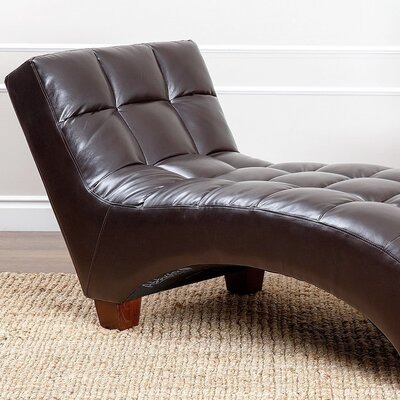 Buker Chaise Lounge Color: Brown