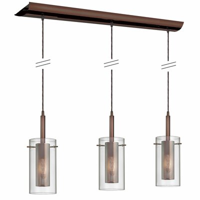 Fennia 3-Light Kitchen Island Pendant Finish: Oil Brushed Bronze