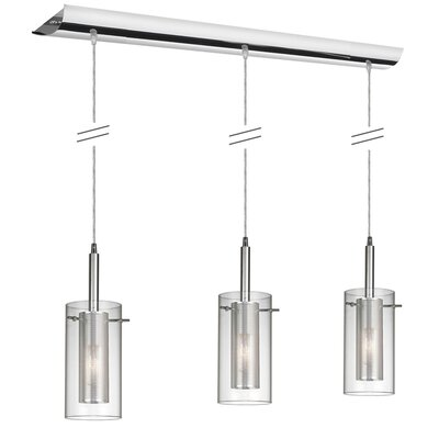 Fennia 3-Light Kitchen Island Pendant Finish: Polished Chrome