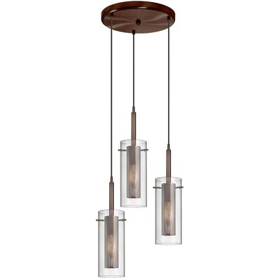 Fennia 3-Light Pendant Finish: Oil Brushed Bronze