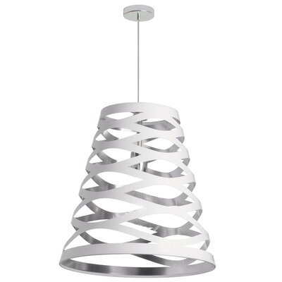 Braylen 1-Light Geometric Pendant Finish: White/Silver