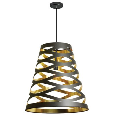 Braylen 1-Light Geometric Pendant Finish: Black/Gold