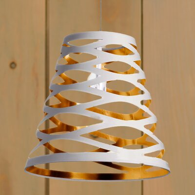Braylen 1-Light Mini Pendant Finish: White/Gold