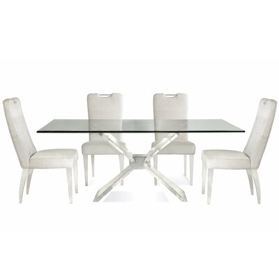 Victor 5 Piece Wood Dining Set