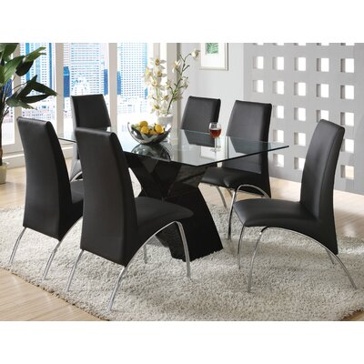 Hydes 7 Piece Dining Set Finish: Black
