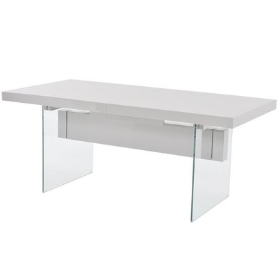 Lamarr Extendable Dining Table Top Finish: White