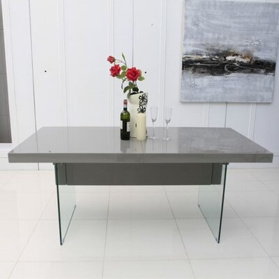 Lamarr Extendable Dining Table Top Finish: Gray