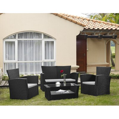 Dunlap 4 Piece Seating Group with Cushion