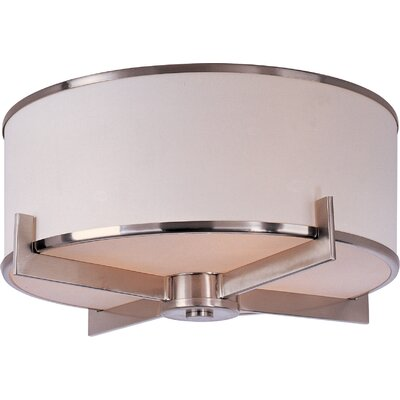 Jimmy 3-Light Flush Mount Finish: Satin Nickel
