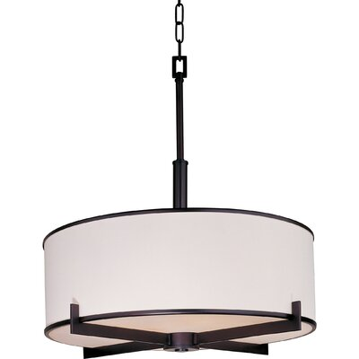 Darcia 4-Light Drum Pendant Finish: Oil Rubbed Bronze