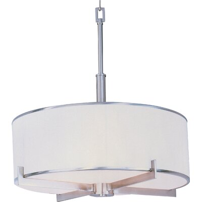 Darcia 4-Light Drum Pendant Finish: Satin Nickel