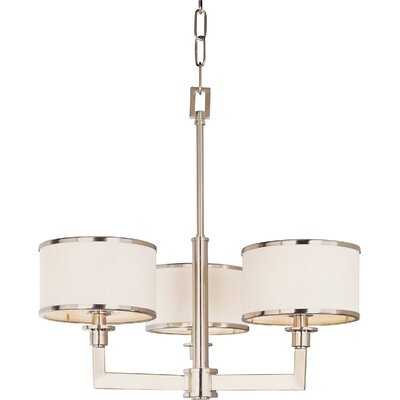 Darcia 3-Light Drum Chandelier Finish: Satin Nickel