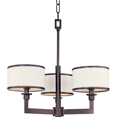 Darcia 3-Light Drum Chandelier Finish: Oil Rubbed Bronze