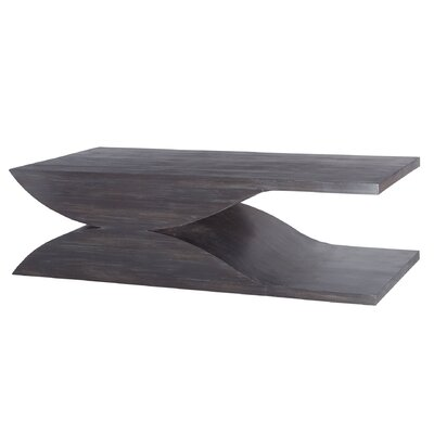 Gilbert Solid Wave Design Coffee Table