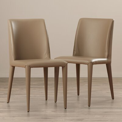 Zackary Side Chair Upholstery: PU - Taupe