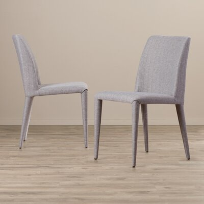Zackary Side Chair Upholstery: Linen - Gray