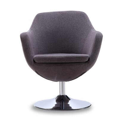 Coen Swivel Arm Chair Color: Gray