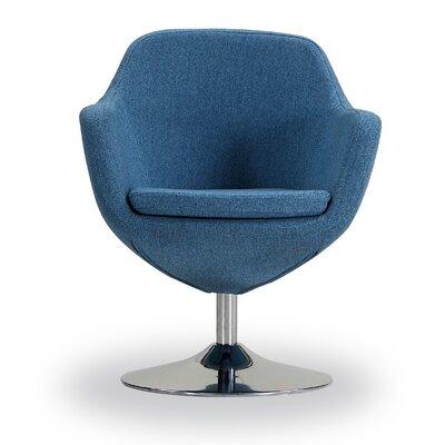 Coen Swivel Armchair Color: Blue Mist