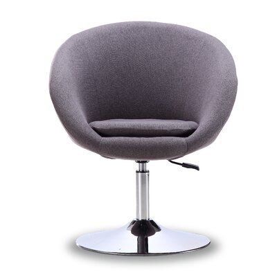 Luz Swivel Barrel Chair Color: Gray