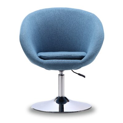 Luz Swivel Barrel Chair Color: Blue Mist