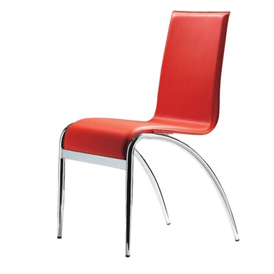 Colt Side Chair (Set of 4) Upholstery: Red