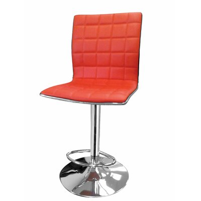 Lonegan Adjustable Height Swivel Bar Stool Upholstery: Orange