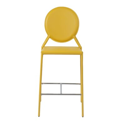 Crew Bar Stool (Set of 2) Upholstery: Yellow