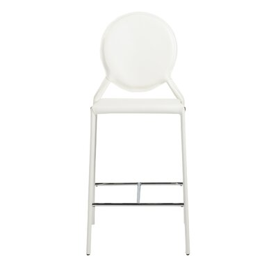 Crew Bar Stool (Set of 2) Upholstery: White