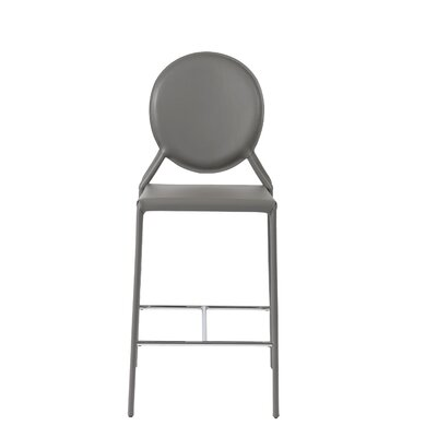 Crew Bar Stool (Set of 2) Upholstery: Gray