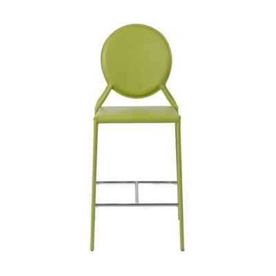 Crew Bar Stool (Set of 2) Upholstery: Green