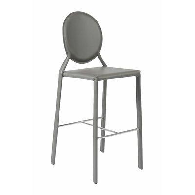 Crew Bar Stool (Set of 2) Upholstery: Gray