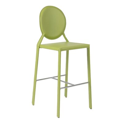 Crew Bar Stool (Set of 2) Upholstery: Green