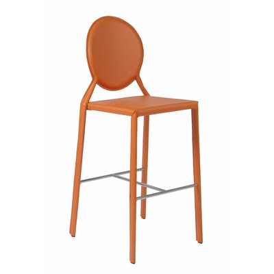 Crew Bar Stool (Set of 2) Upholstery: Orange