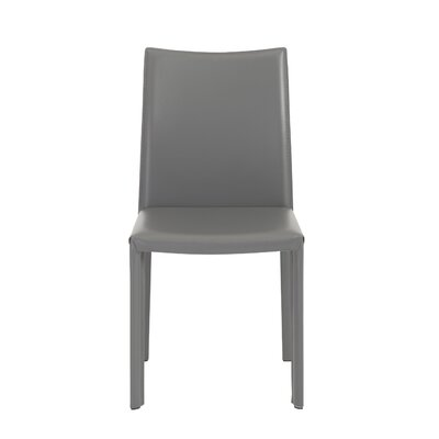 Atlantic Avenue Contemporary Genuine Leather Upholstered Dining Chair Upholstery: Gray