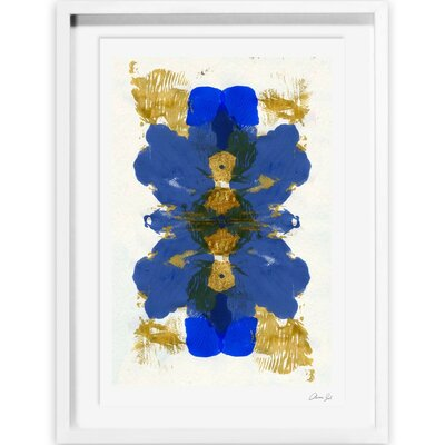 'Cumbia Azul' Framed Painting Print Size: 18