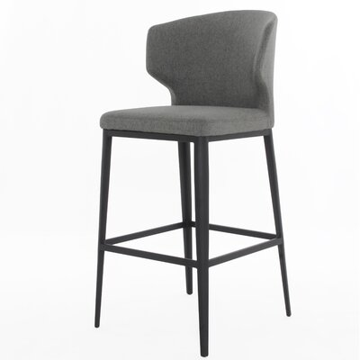 Tomas Bar Stool Upholstery: Warm Gray