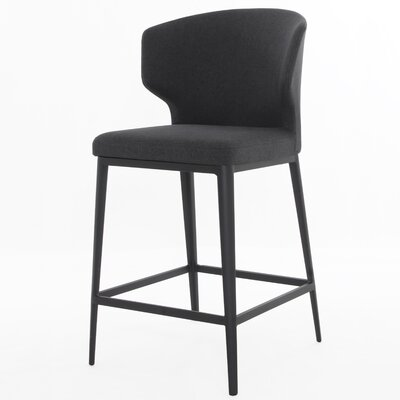 Tomas Bar Stool Upholstery: Dark Gray