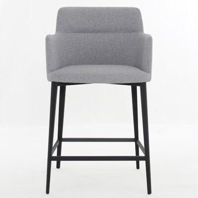Joaquim 25 inch Bar Stool Upholstery: Light Gray