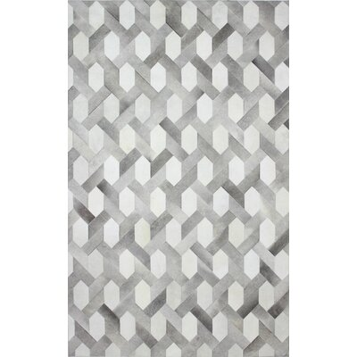 Davi Flat Woven Grey Area Rug Rug Size: 5 x 8