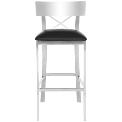 Dayton Bar Stool Upholstery Color: Black