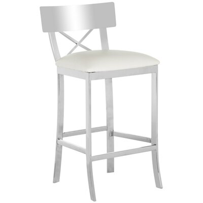 Burnside 30.5 Bar Stool Upholstery Color: White