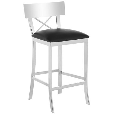Burnside 30.5 Bar Stool Upholstery Color: Black