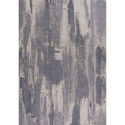 Edison Gray/Ivory Area Rug Rug Size: 18 x 27