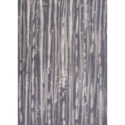 Edison Charcoal/Ivory Area Rug Rug Size: Runner 22 x 76