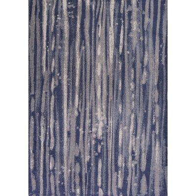 Edison Navy Blue/Ivory Area Rug Rug Size: 18 x 27