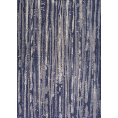 Edison Navy Blue/Ivory Area Rug Rug Size: Runner 22 x 76